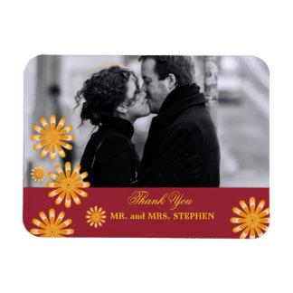 Kundenspezifische Gastgeschenk Hochzeit danken Recchteckiger Magnet