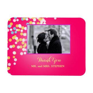 Kundenspezifische Gastgeschenk Hochzeit danken Vinyl Magnete