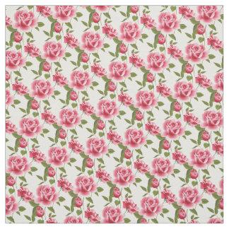 Kundenspezifische Gewebe-Rosa Rosen Stoff