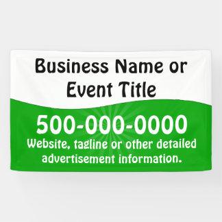 Kundenspezifische grüne weiße Geschäfts-Werbung Banner