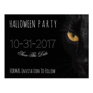 Kundenspezifische Halloween-Party-Save the Date Postkarte