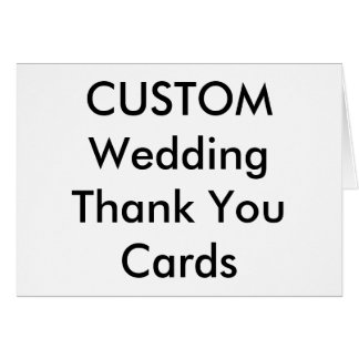 Kundenspezifische Hochzeit danken Ihnen kardiert Mitteilungskarte