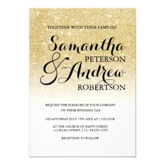 Kundenspezifische Hochzeit des 12,7 X 17,8 Cm Einladungskarte
