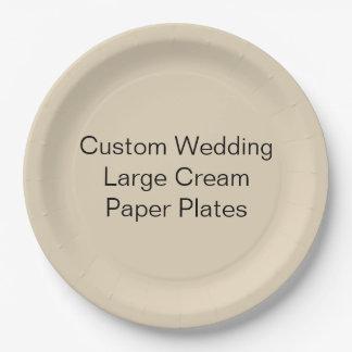 Kundenspezifische Hochzeit, großer Pappteller