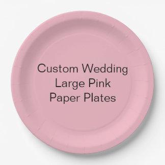 Kundenspezifische Hochzeit, großer rosa Pappteller