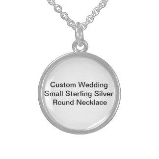 Kundenspezifische Hochzeit kleine Sterling Silberkette
