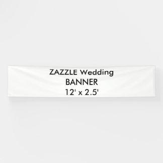 Kundenspezifische Hochzeits-Fahne 12' x 2,5' Banner