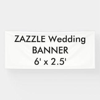 Kundenspezifische Hochzeits-Fahne 6' x 2,5' Banner