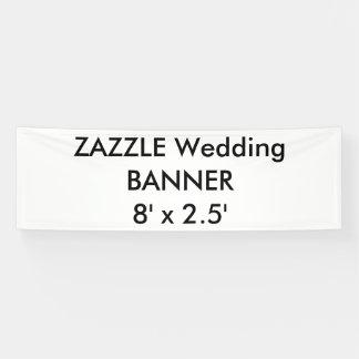 Kundenspezifische Hochzeits-Fahne 8' x 2,5' Banner