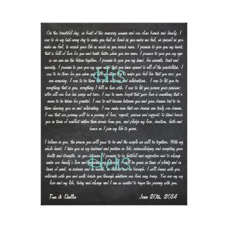 Kundenspezifische Hochzeits-Versprechen auf Gespannte Galerie Drucke