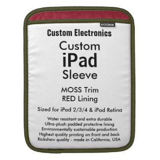 Kundenspezifische iPad Hülse - Vertikale (Moos u. iPad Sleeves