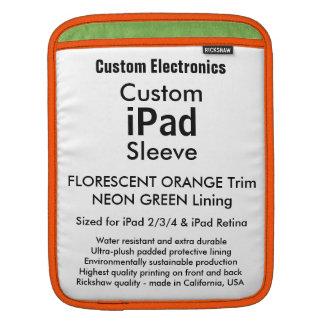 Kundenspezifische iPad Hülse - Vertikale (Orange Sleeve Für iPads