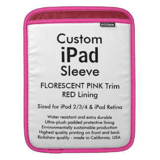 Kundenspezifische iPad Hülse - Vertikale (Rosa u. Sleeves Für iPads