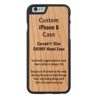 Kundenspezifische iPhone 6 Kirschwirklicher Carved® iPhone 6 Hülle Kirsche