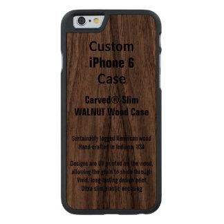 Kundenspezifische iPhone 6 Walnuss-wirklicher Carved® iPhone 6 Hülle Walnuss