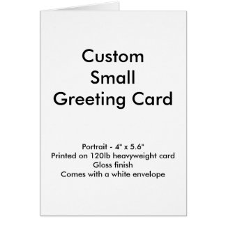 """Kundenspezifische kleine Gruß-Karte - Porträt 4"""" x Karte"""