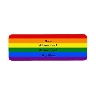 Kundenspezifische LGBT Flagge Adressen-Etiketten