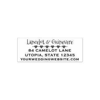 Kundenspezifische Linien der Hochzeits-Herz-| der Permastempel