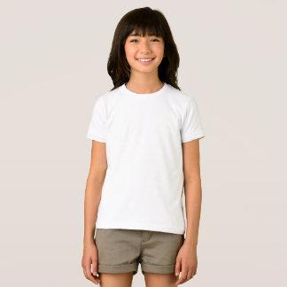 Kundenspezifische Mädchen-grundlegender T-Shirt