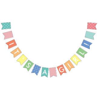 Kundenspezifische Mitteilungs-Pastellregenbogen Wimpelketten