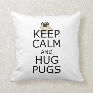 Kundenspezifische Möpse behalten Ruhe Kissen