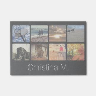 Kundenspezifische multi Foto-Mosaik-Bild-Collage Post-it Klebezettel