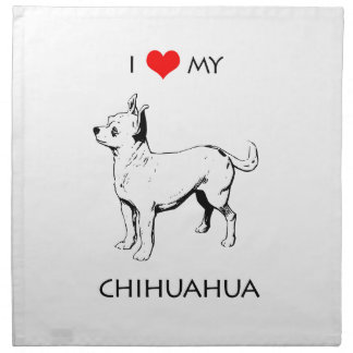 Kundenspezifische niedliche i-Liebe mein Chihuahua Serviette