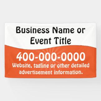 Kundenspezifische orange weiße Geschäfts-Werbung Banner