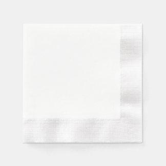 Kundenspezifische Papierserviette - geprägtes Weiß