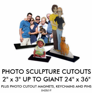 Kundenspezifische personalisierte freistehende fotoskulptur