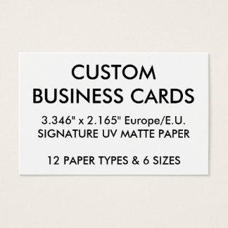 Kundenspezifische personalisierte visitenkarte