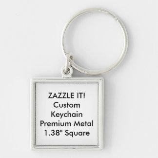 Kundenspezifische quadratische Keychain Schlüsselanhänger