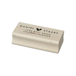 Kundenspezifische Rücksendeadresse-Briefmarke Gummistempel