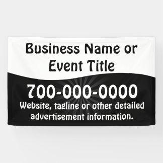Kundenspezifische Schwarzweiss-Geschäfts-Werbung Banner