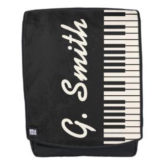 Kundenspezifische Schwarzweiss-Klavier-Tastatur. Rucksack