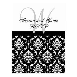 Kundenspezifische UAWG Damast-Hochzeits-Postkarte Postkarten