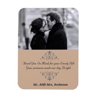 Kundenspezifische Wirbels-Gastgeschenk Hochzeit Eckige Magnete