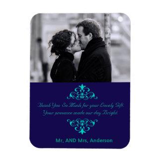 Kundenspezifische Wirbels-Gastgeschenk Hochzeit Flexible Magnete