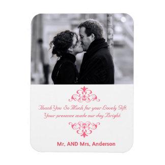 Kundenspezifische Wirbels-Gastgeschenk Hochzeit Rechteckige Magnete