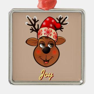 Kundenspezifischen Weihnachtsmanns Ren Silbernes Ornament