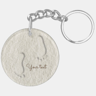 Kundenspezifischer Abdruck/Abdrücke auf sandigem Schlüsselanhänger