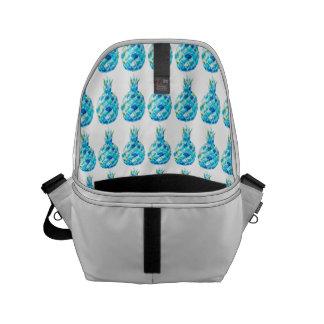 Kundenspezifischer blauer Ananasdruck der Kurier Tasche