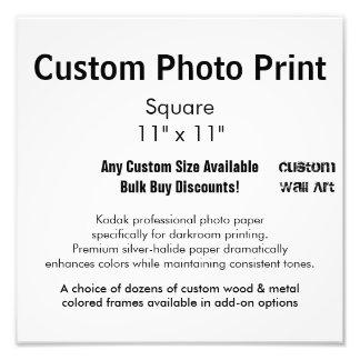 """Kundenspezifischer Foto-Druck - quadrieren Sie 11"""""""