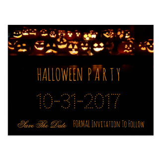 Kundenspezifischer Halloween-Party-Save the Date Postkarte