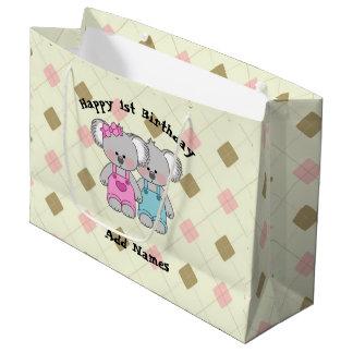 Kundenspezifischer Koala paart (Mädchen und Junge) Große Geschenktüte