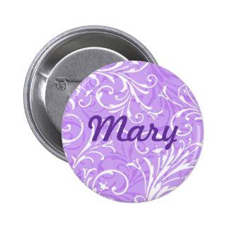 Kundenspezifischer lila dekorativer Knopf Runder Button 5,7 Cm
