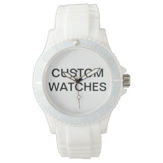 Kundenspezifischer personalisierter rosa armbanduhr