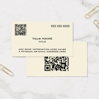 Kundenspezifischer QR Code-moderner Knochen Visitenkarte