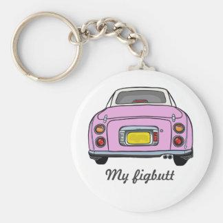 Kundenspezifischer rosa Nissan Schlüsselanhänger