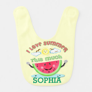 Kundenspezifischer Sommer-Liebe-Baby-Schellfisch Lätzchen